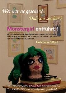 Suchplakat Monstergirl